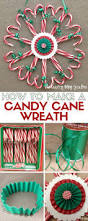 how to make a candy cane wreath candy cane wreath easy diy
