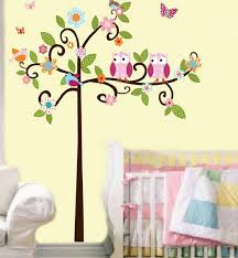 Kids Bedroom With Nature Theme Tree Birds Inspired Wall - Kids room wall decoration