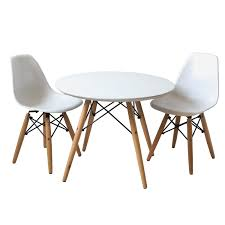 eames style chair buschman set of table and 2 white kids eames style retro modern