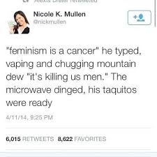 Typed Memes - feminism is a cancer he typed vaping and chugging mountain dew
