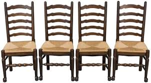 Ladder Back Dining Chairs Antique Ladderback Dining Chairs Set Of Four In Oak