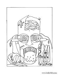 Halloween Coloring Pages Online by Scary Frankenstein Coloring Pages Hellokids Com