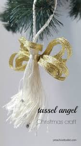 how to make a tassel tree ornament preschool toolkit