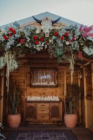 Backyard Skulls Boho Floral Wedding Arbour With Bull Skull No Pinterest