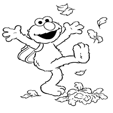 Thanksgiving Leaf Template Free Printable Elmo Coloring Pages For Kids