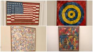 Jasper Johns Three Flags Jasper Johns Exhibit Opening At The Broad Museum In La Abc7 Com