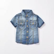 high quality fashion boys sleeve denim shirt brand toddler
