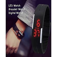 bracelet watches led images Buy super fit led sports watch black online at best price in jpg