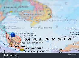 Singapore On Map Kuala Lumpur Pinned On Map Asia Stock Photo 313784180 Shutterstock
