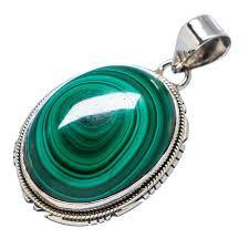 malachite pendant silver jewelry ornaments midas