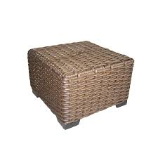 Wicker Patio Furniture Lowes - shop allen roth blaney 22 in x 22 in black wicker square patio