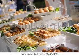 catering buffet table delicious food stock photo 334634366