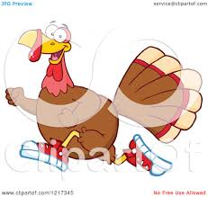 thanksgiving avatars clipart of a thanksgiving turkey bird running in sneakers