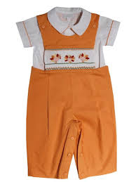 boys smocked thanksgiving turkey longall with shirt