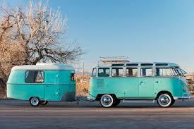 green volkswagen van vintage volkswagen van has a rare matching teal camper curbed ski