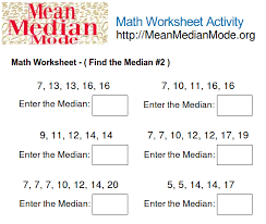 find the mean worksheet free worksheets library download and