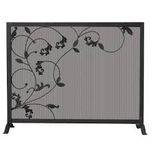 fireplace screens fireplaces the home depot also brushed nickel