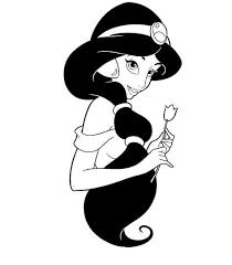 colouring pages disney princess  14 dessins de coloriage Jasmine à