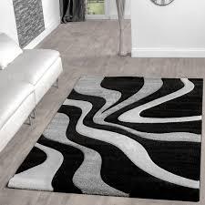 schwarz weiß wohnzimmer teppich schwarz weiß grau wohnzimmer teppiche modern mit