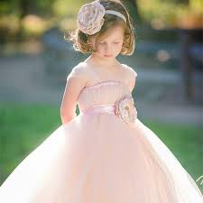 light pink flower dresses 2016 new charm blush and light pink flower dress with headband