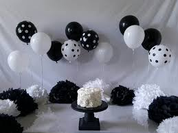 black and white smash cake setup made this for my daughter