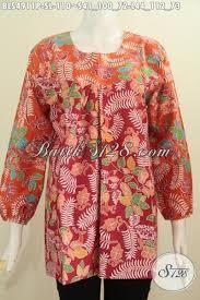 desain baju batik halus baju batik santai blus batik solo keren model karet ujung lengan