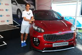 Kia Open Rafael Nadal Unveils Kia S Newest X Car At Australian Open 2016