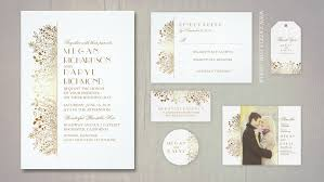 wedding invitations gold foil read more faux gold foil florals wedding invitations