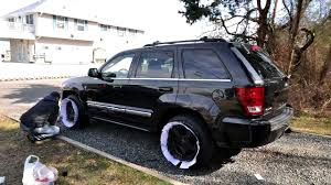jeep grand cherokee factory wheels timelapse of plastidipping my 05 grand cherokee rims youtube