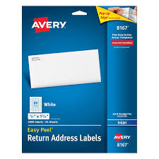 Avery Template 30 Labels Per Sheet Amazon Com Avery Easy Peel Address Labels For Inkjet