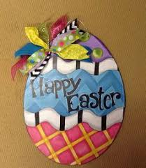 Handmade Easter Door Decorations by Easter Basket Yard Art Easter Outdoor Wood Decoration Easter
