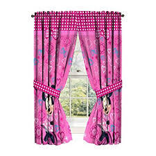 amazon disney minnie mouse window panels curtains drapes pink