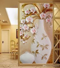 3d Flower Vase Large Custom Flower Vase 3d Murals For Entranceway Painting