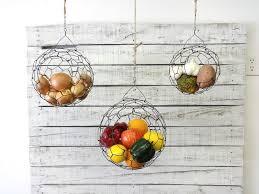 wall fruit basket suspended fruit baskets hanging wire basket