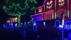 homeowner creates amazing halloween light show synced with u0027feel