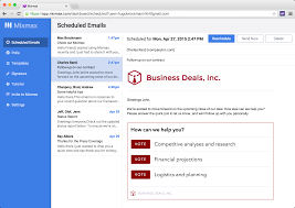 Business Email Greetings by Perfect Timing With Scheduled Emails Mixmax