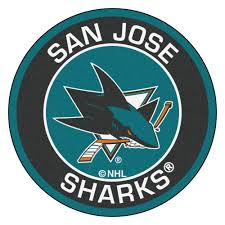 San Jose Sharks Flag Fanmats Nhl San Jose Sharks Black 2 Ft 3 In X 2 Ft 3 In Round