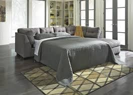 buy maier charcoal laf full sofa sleeper with raf corner chaise