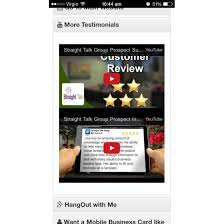 Youtube Business Card Virtual Business Cards Mobile Marketing