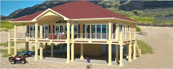 pier foundation house plans clearview 2400p 2400 sq ft on piers beach house plans by beach