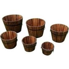 for my herb garden real wood 26 in half whiskey barrel planter