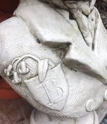 badger garden ornament bust baron bonaparte