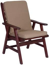 hazelnut high back chair cushion embellish imports
