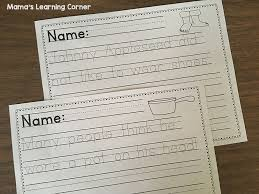 johnny appleseed handwriting practice worksheets mamas learning