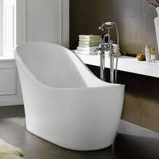 Bathroom Tub Shower Ideas Stand Alone Bathtubs Round Glossy Stone Bathtub Bathroom Ideas