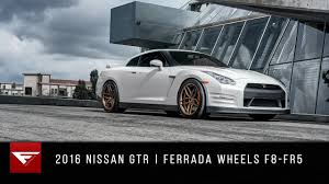 nissan gtr matte black gold rims 2016 nissan gtr ferrada wheels f8 fr5 youtube