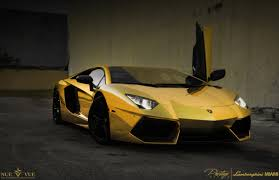 real gold cars aventador lamborghini gold cars