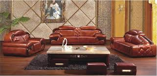 New Leather Sofas Combination Minimalist Living Room With Leather Sofas New