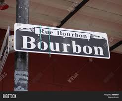 bourbon sign bourbon sign image photo bigstock