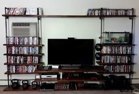 Black Pipe Bookshelf Custom 3 4
